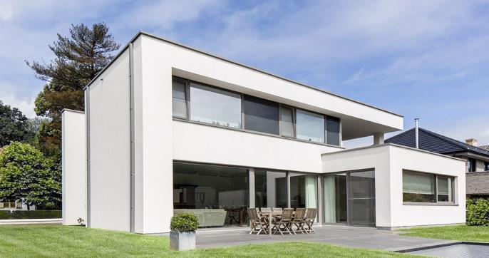 plat dak modern realisaties bouwbedrijf qubo