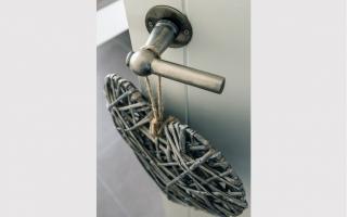 Rustiek deurklinken in pastoriewoning