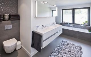 Mozaiektegeltjes badkamer