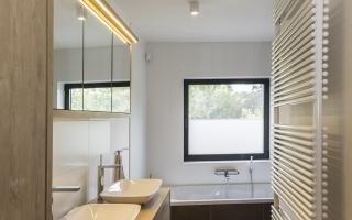 Badkamer met een echte 'zen' uitstraling