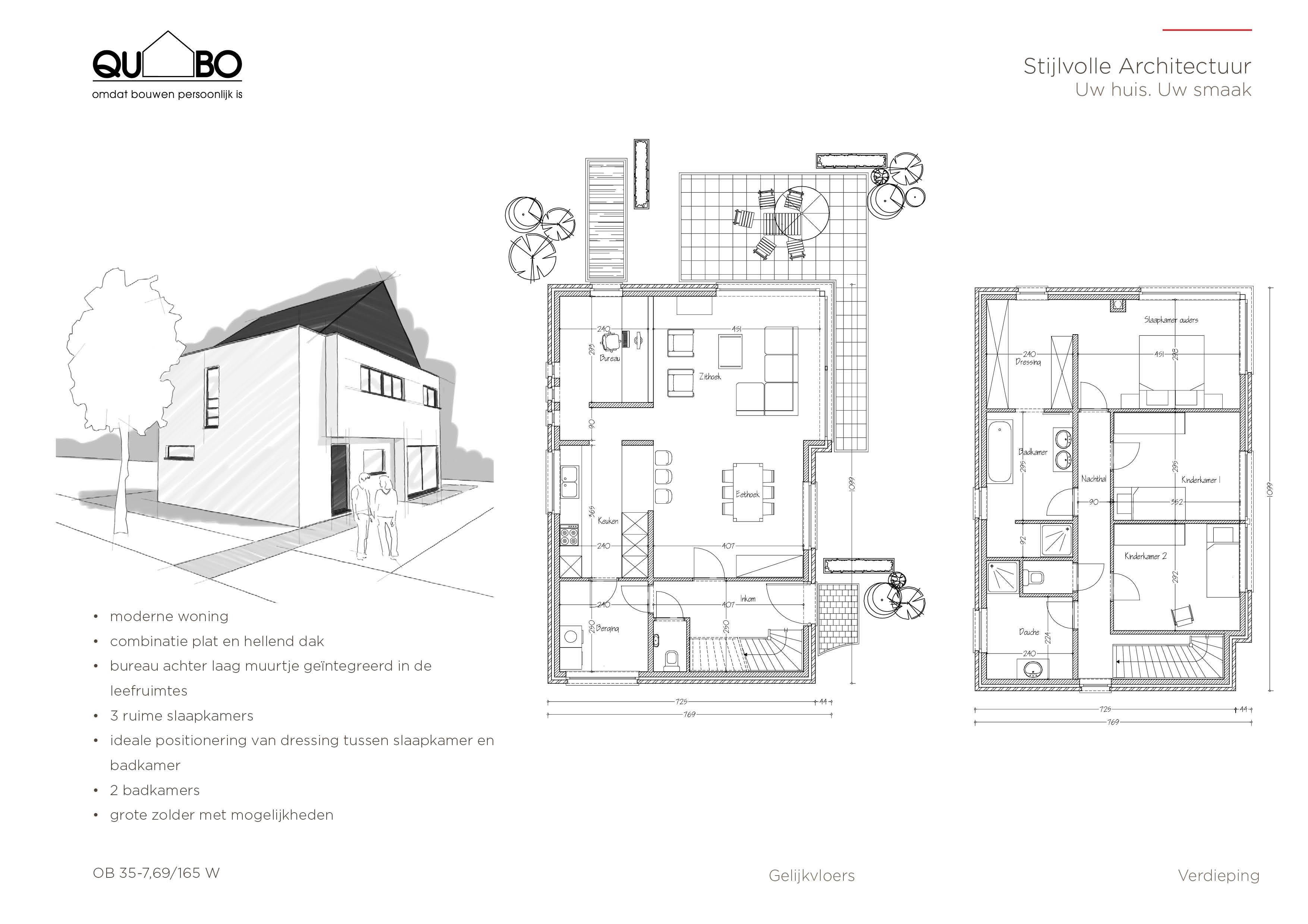 Open bebouwing for Grondplannen woningen