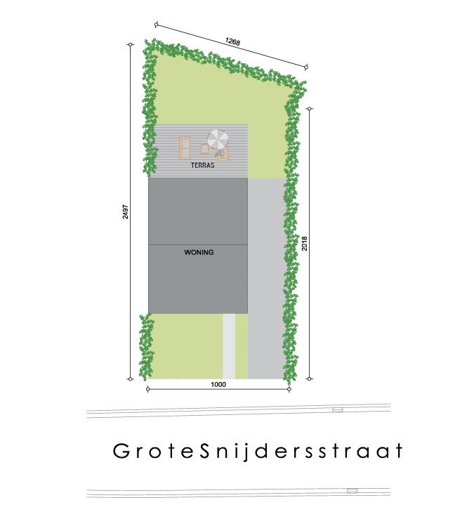 Nieuwbouwproject Lebbeke (9280) - Grote Snijdersstraat: Half open bebouwing